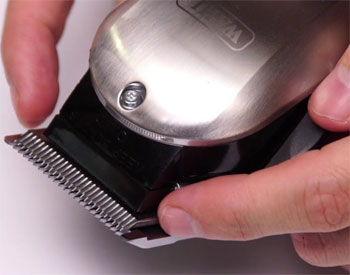 Realign hair clipper blades